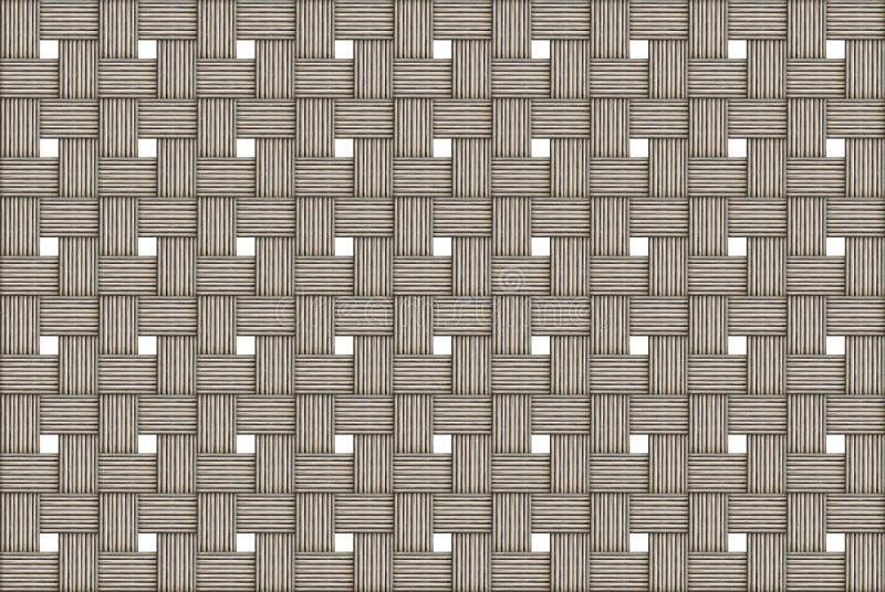 Monocromático claro tecido de madeira resistido bege do fundo de pano tecido com fileira infinita das janelas dos quadrados branc foto de stock royalty free