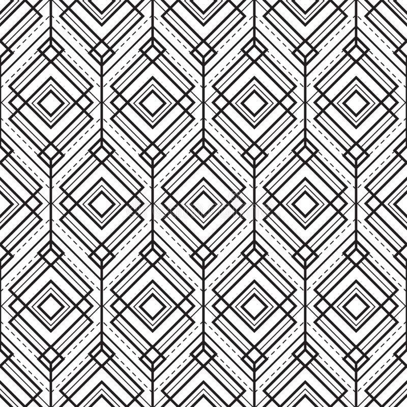 Monocromo inconsútil geométrico abstracto background03 ilustración del vector