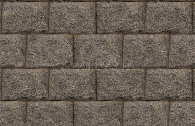 Monocromo rectangular gris del diseño de la base de pared de piedra del bloque del fondo del Grunge imágenes de archivo libres de regalías