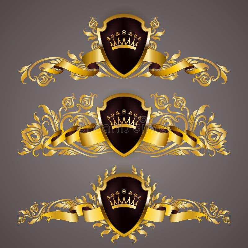 Monogramów logowie ustawiający ilustracji