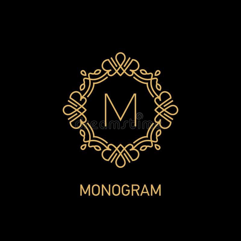 Monogram7 royalty-vrije illustratie