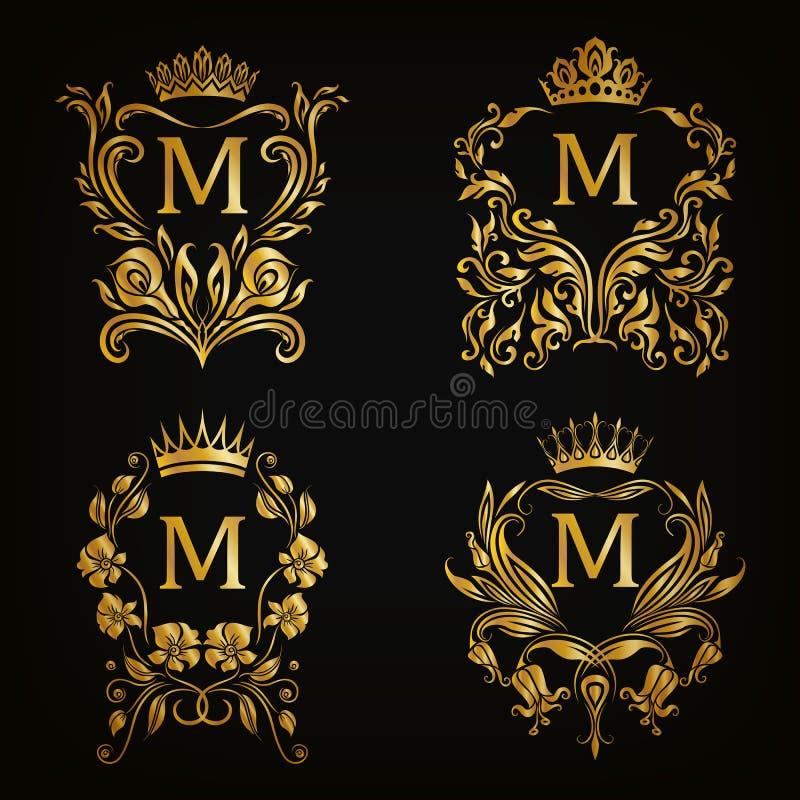 Monogram Logos Set Stock Vector. Illustration Of Decor