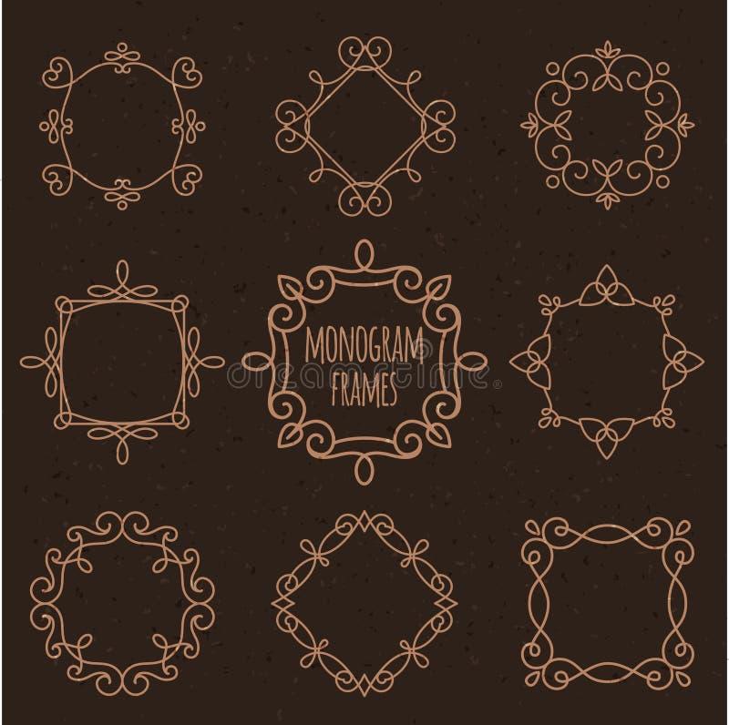 Monogram minimale reeks vector illustratie