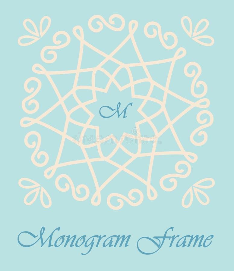 Monogram rama ilustracji
