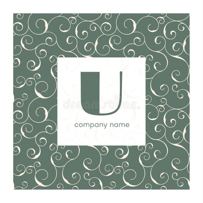 Monogram with swirly frame, vector background. Vector monogram with swirly frame, vector background. Logo design templates stock illustration