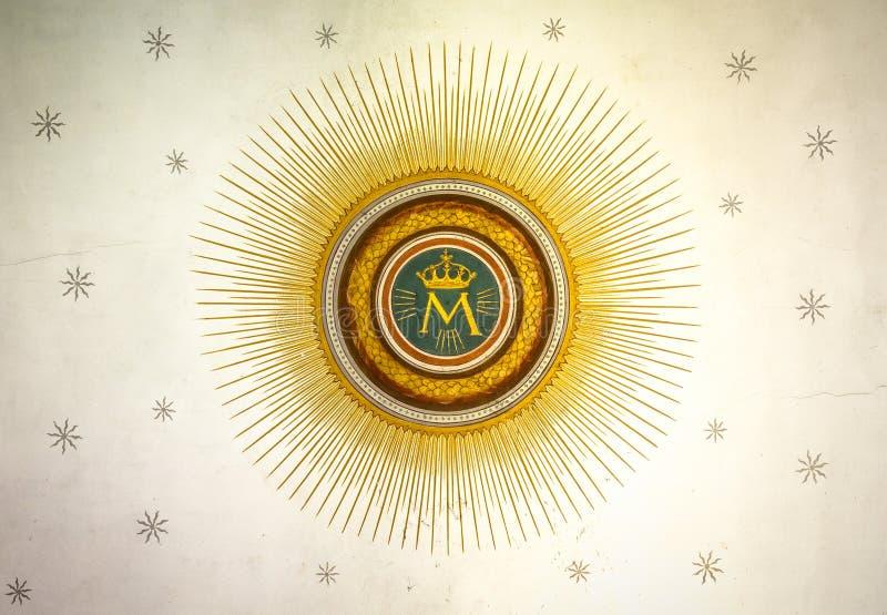 Monogram van Onze Dame royalty-vrije stock foto