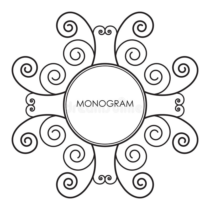 monograma libre illustration