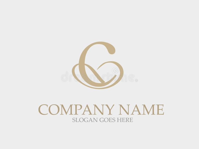 Monograma abstracto Logo Design elegante de la letra de C libre illustration