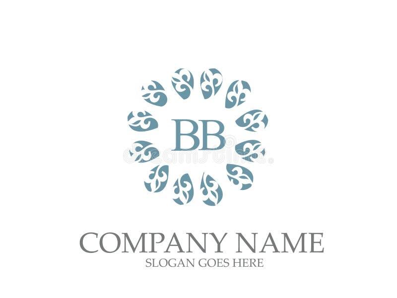 Monograma abstracto Logo Design elegante de la letra del BB libre illustration