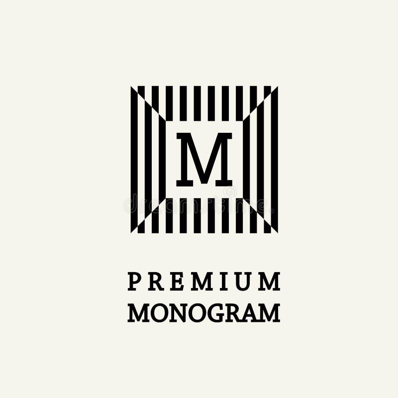 Monograma agraciado elegante en el estilo de Art Nouveau stock de ilustración