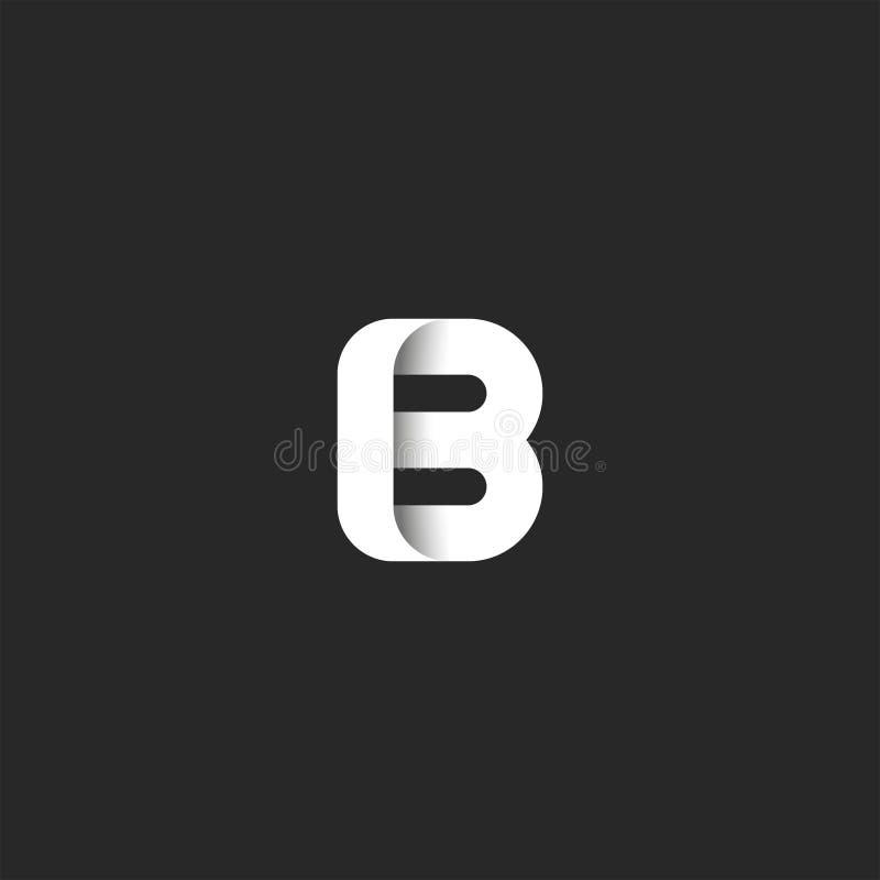 Monograma corajoso do logotipo criativo da letra B da marca, elemento minimalista do projeto da tipografia lustrosa à moda do íco ilustração do vetor