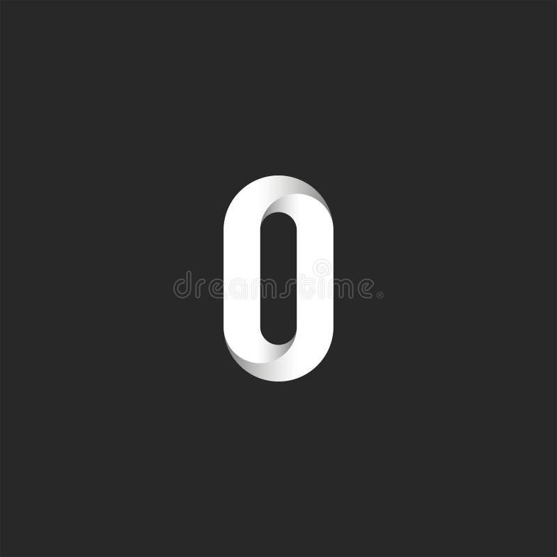 Monograma criativo do logotipo corajoso da letra O, linha lisa emblema da identidade da forma ilustração do vetor