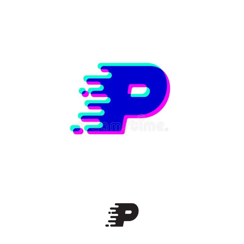 Monograma de G com efeito estereofônico Letra de G com movimento e deslocamento Logotipo din?mico ilustração royalty free