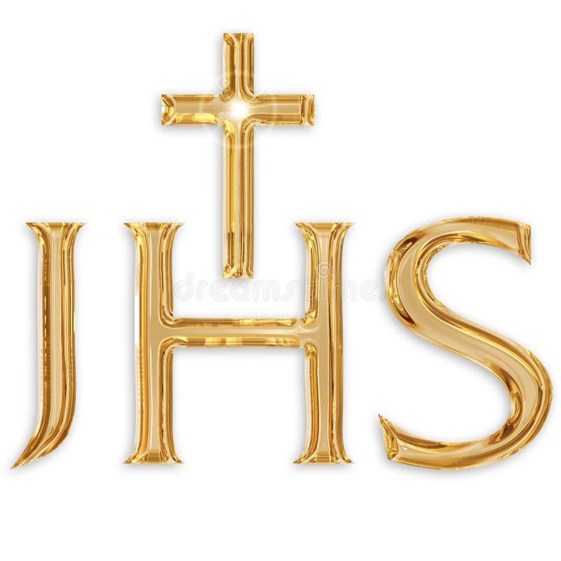 Monograma de Jesus christ ilustração stock
