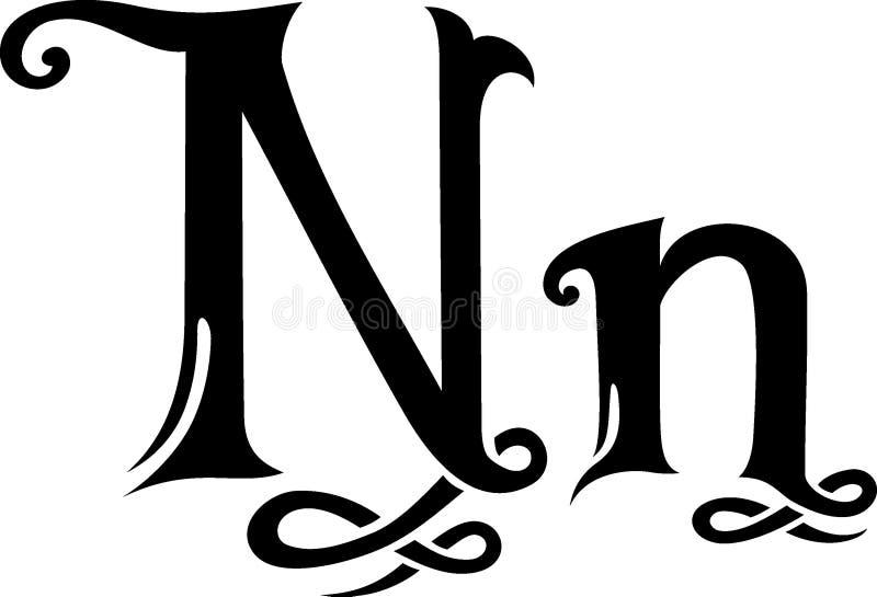 Monograma de la letra N libre illustration