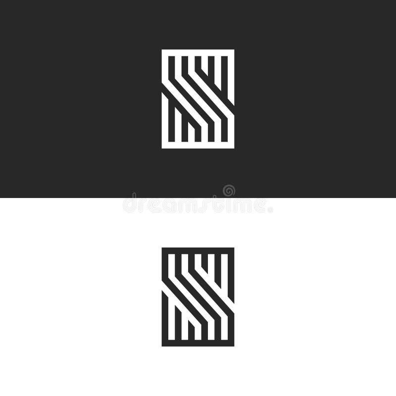Monograma de la letra de S, logotipo inicial o símbolo gótico, logotipo simple linear de la identidad para la tarjeta de visita i libre illustration