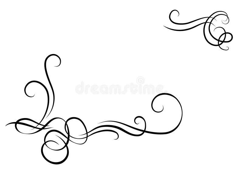 Monograma decorativo ilustração do vetor