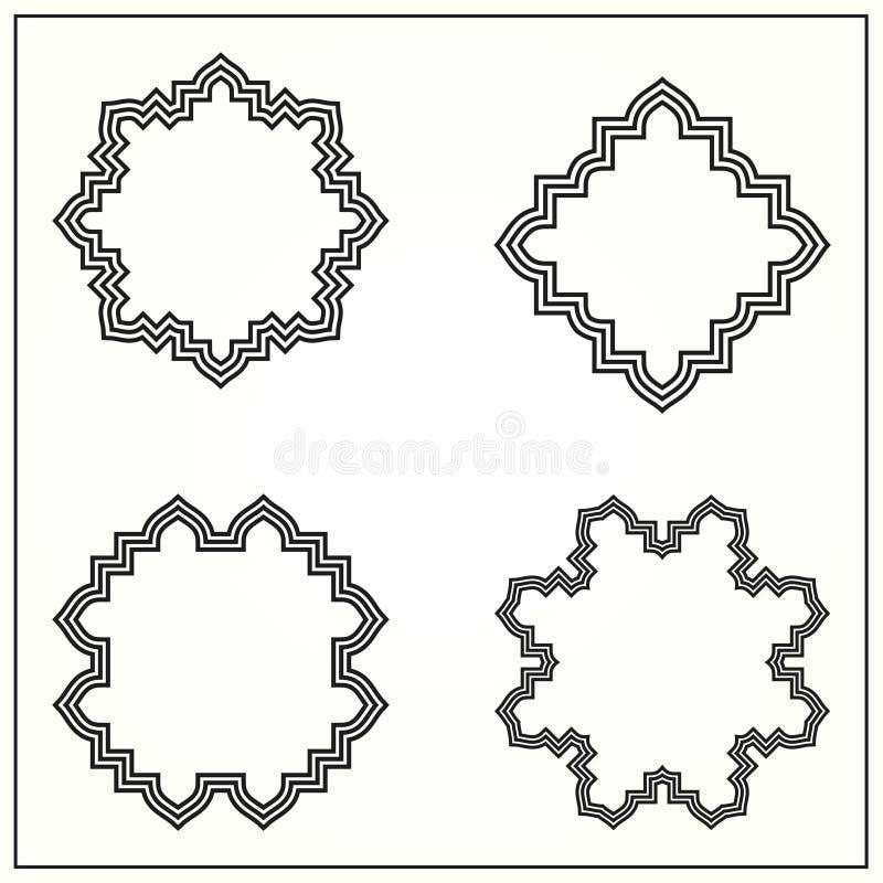 Monograma decorativo ilustração royalty free