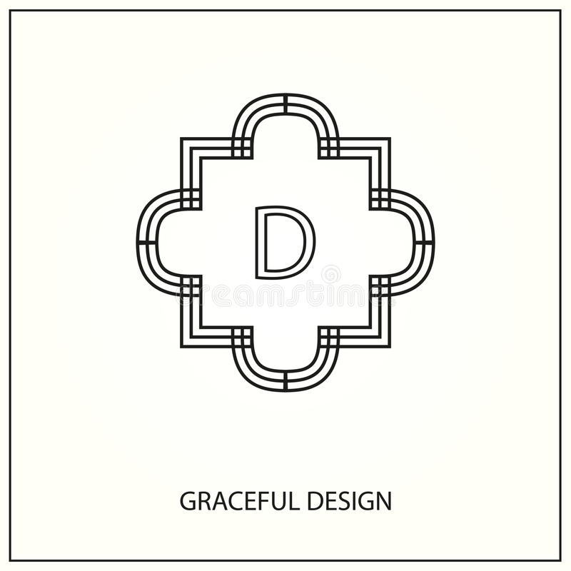 Monograma decorativo ilustração stock