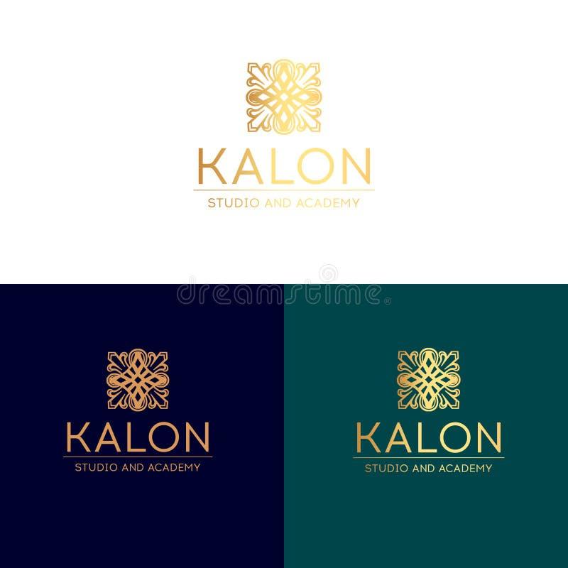 Monograma, extracto, belleza, emblema, logotipo elegante libre illustration