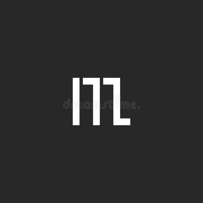 Monograma gráfico del logotipo de la letra M, elemento geométrico del diseño de la forma, simplemente emblema para la tarjeta de  stock de ilustración