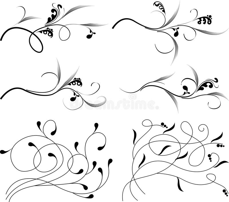 Monogramas de la vendimia libre illustration