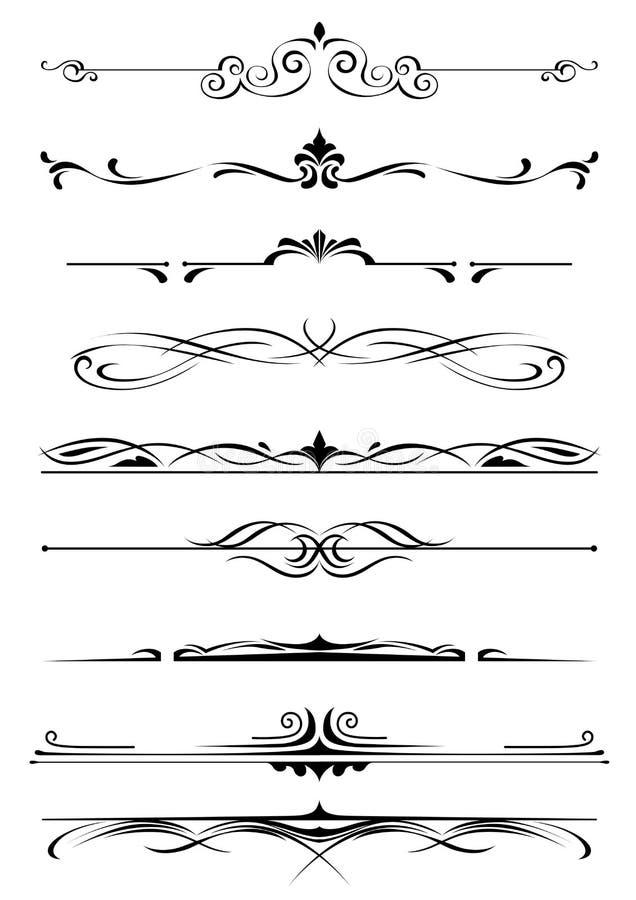 Monogramas y fronteras del vintage stock de ilustración