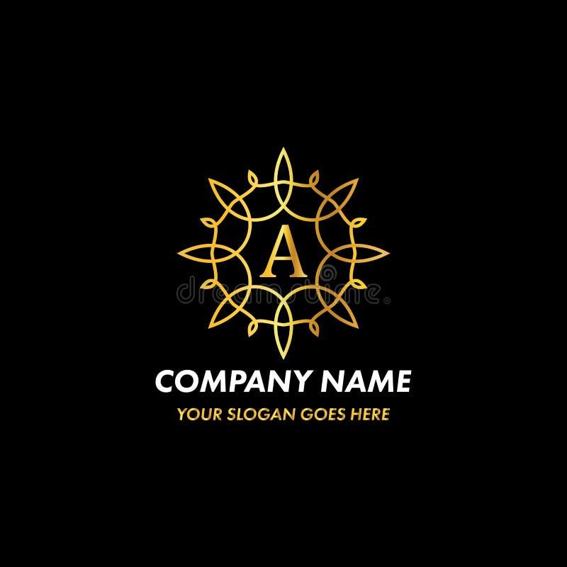 Monogrambrief Logo Concept royalty-vrije illustratie