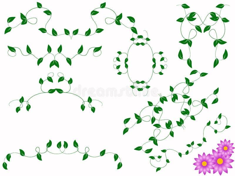 Monogramma del fiore illustrazione di stock