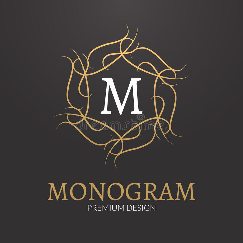 Monogrammdesign-Logoschablone des Vektors stilvolle elegante vektor abbildung