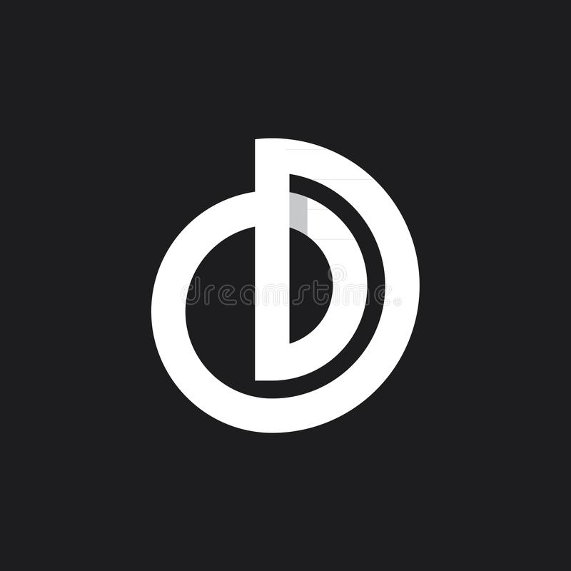 Monogramme d'OD photographie stock