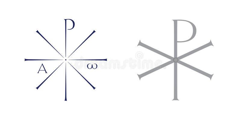 Monogramme de symbole du Christ (illustration) illustration libre de droits