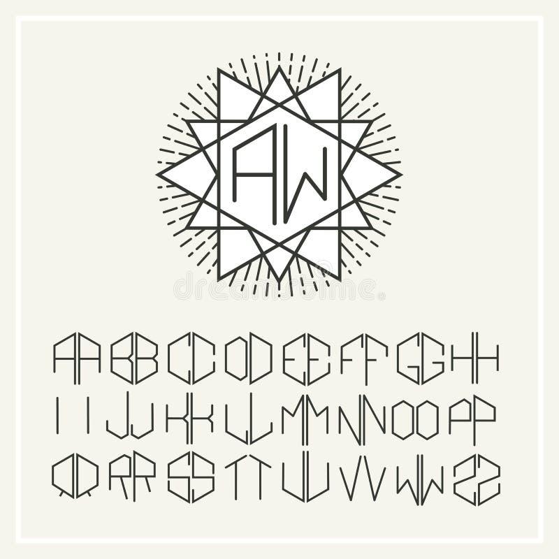 monogramme  logo de sch u00e9ma en art nouveau style