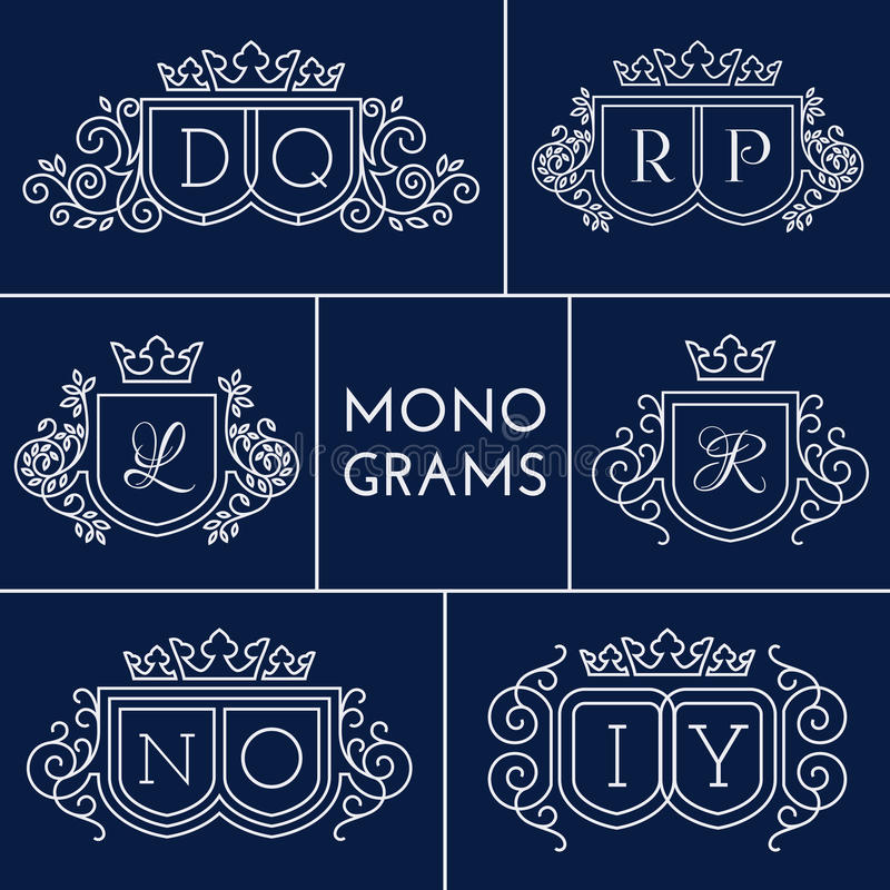 Monogrammes réglés illustration de vecteur