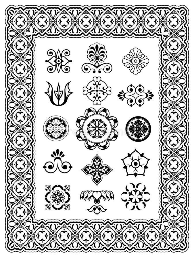 Download Monogrammi Ornamentali Degli Elementi Di Progettazione Illustrazione Vettoriale - Illustrazione di antique, ornamento: 30827231