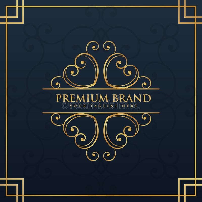 Monogrammlogodesign für erstklassige und Luxusmarke vektor abbildung