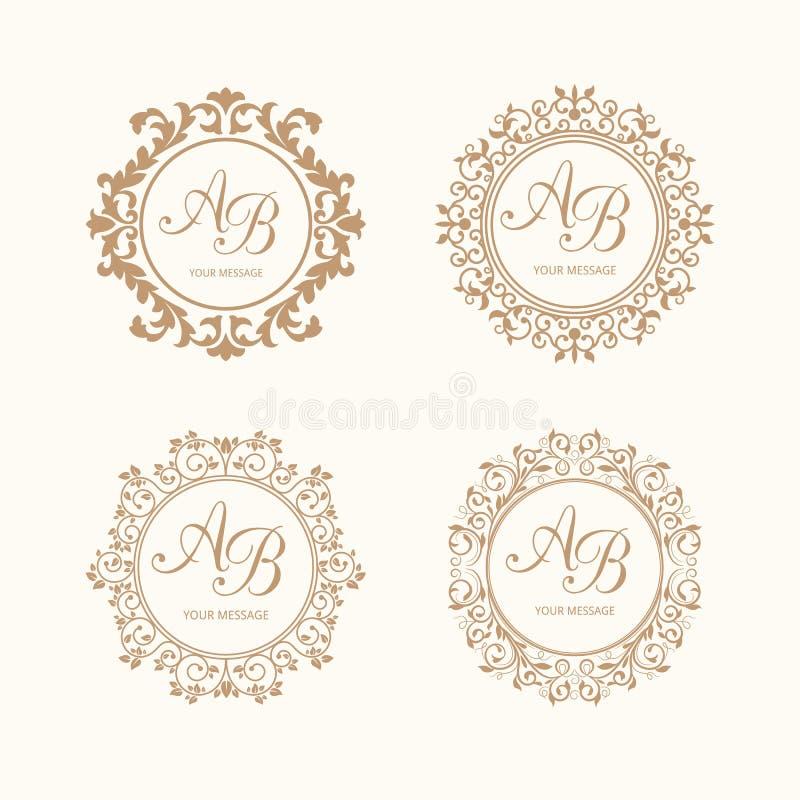 monograms stock illustrationer