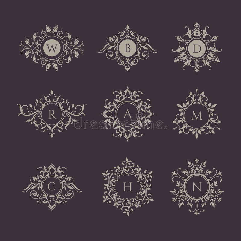 Monograms collection. vector illustration