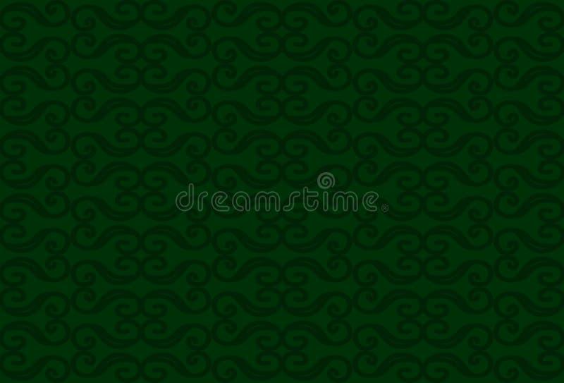 Monogramy na zielonym tle ilustracji