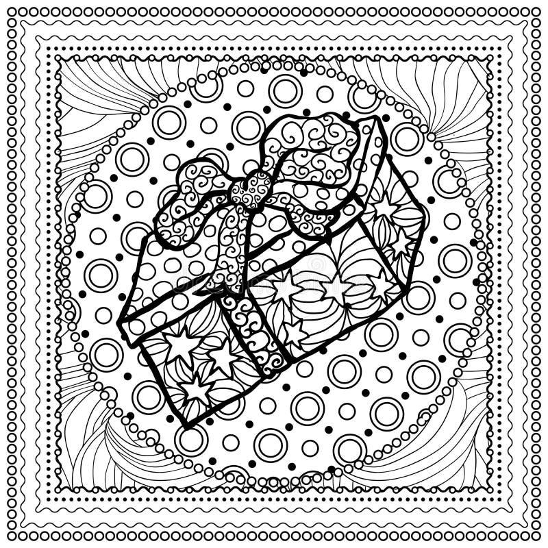 Monoillustration des schwarzen Vektors farbfür frohe Weihnachten stock abbildung