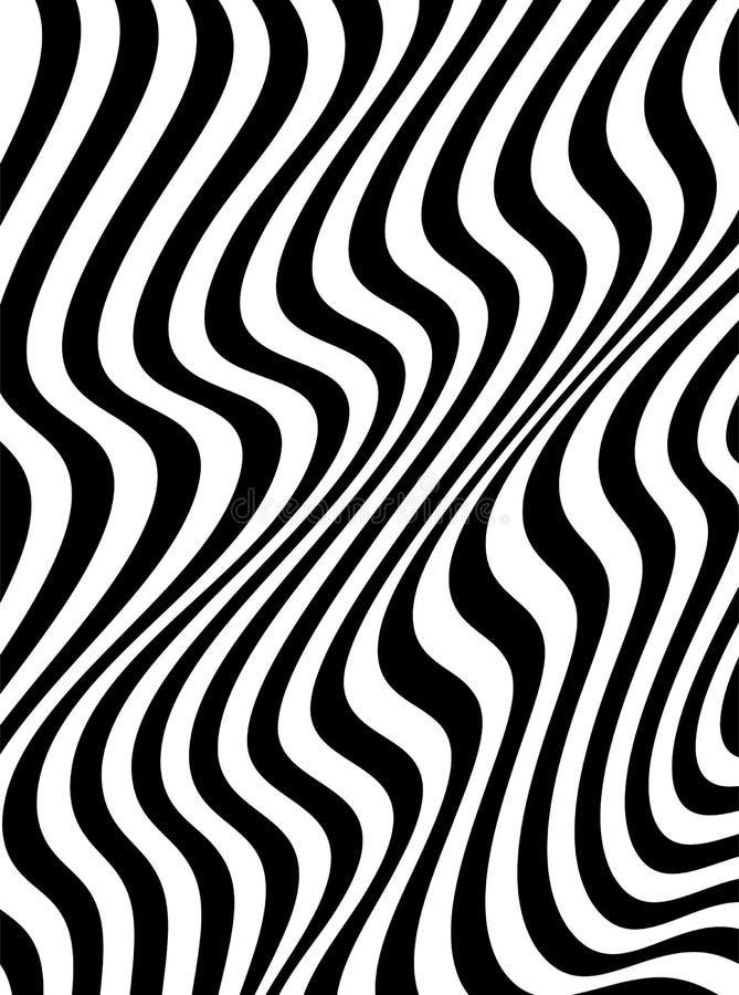 Monokrom bakgrund för abstrakt våg i vektor stock illustrationer