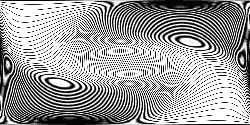 Monokrom bakgrund för våg Enkel linjär rastrerad textur royaltyfri illustrationer