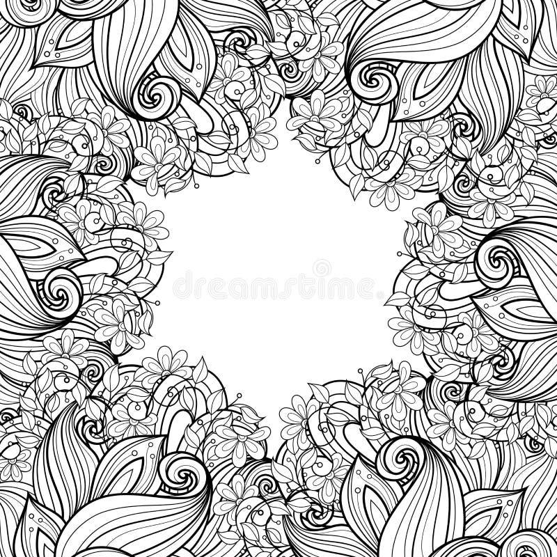 Monokrom blom- bakgrund för vektor vektor illustrationer