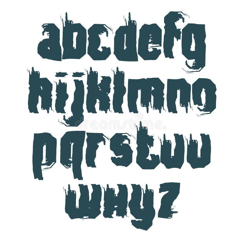 Monokrom calligraphic stilsort för vektor, handskriven vattenfärg royaltyfri illustrationer