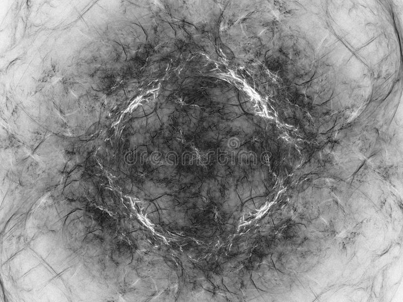 Monokrom fractalbakgrund Digital collage vektor illustrationer