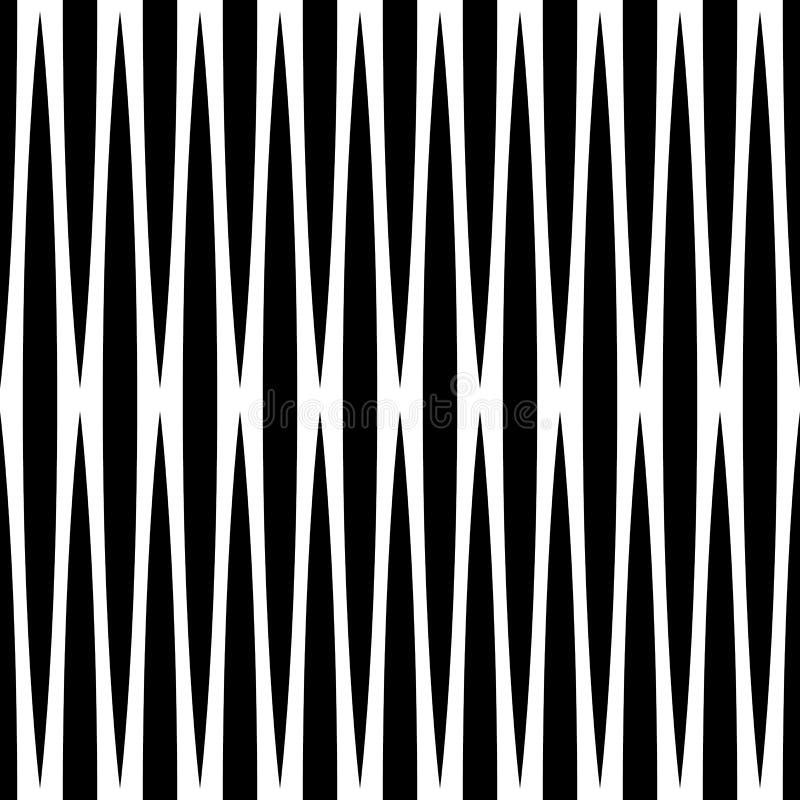 Monokrom geometrisk modell med linjer Sömlöst repeatable stock illustrationer