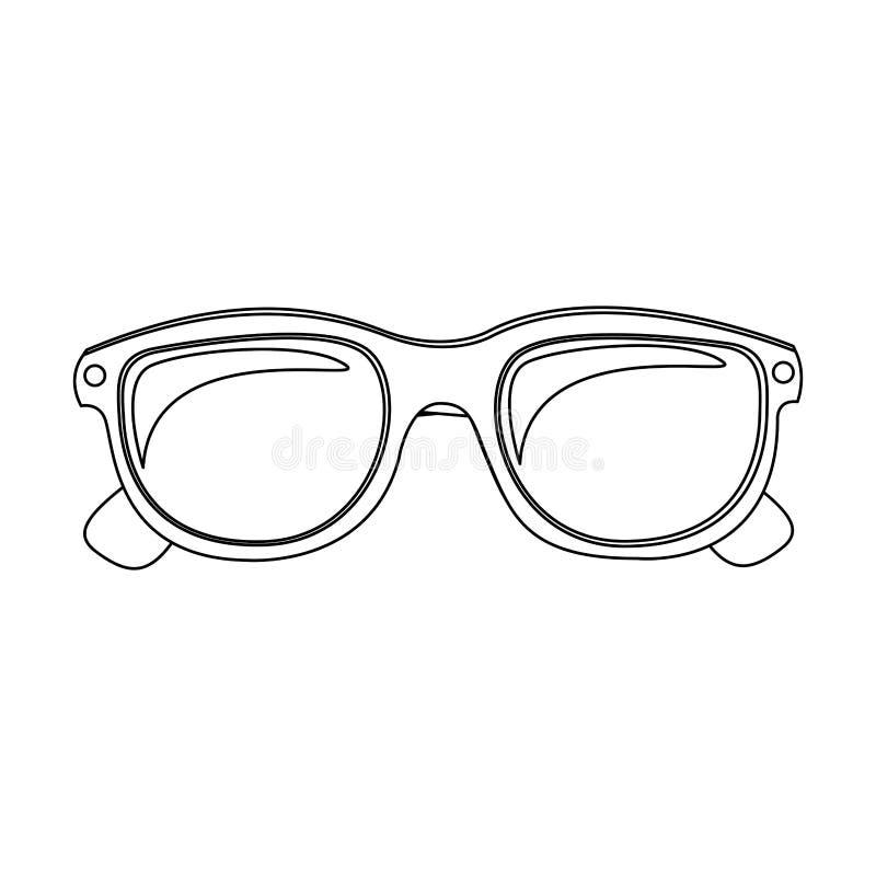 monokrom kontur med den ovala exponeringsglaslinsen vektor illustrationer
