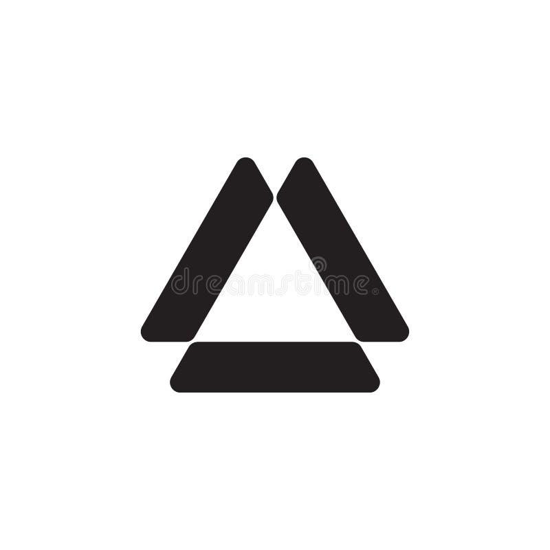 Monokrom logodesign för triangel royaltyfri fotografi