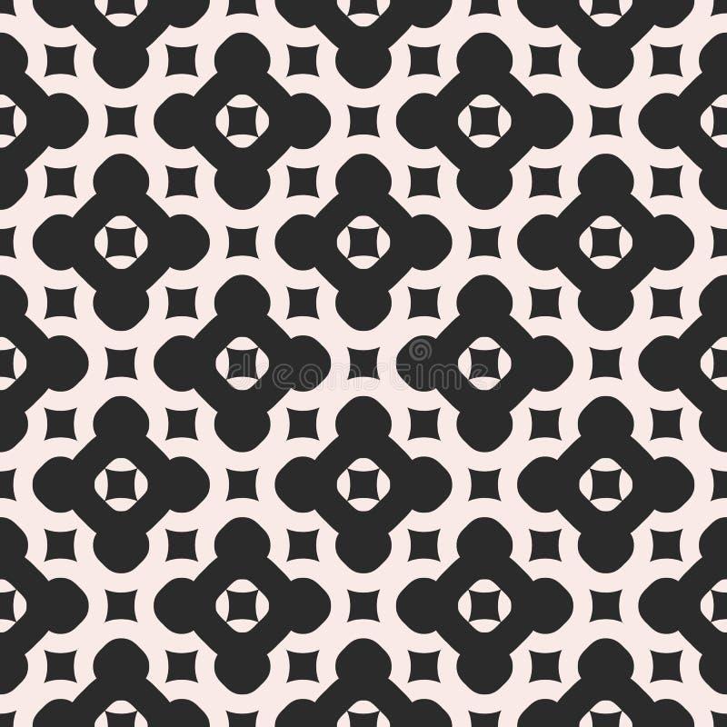 Monokrom sömlös modell för vektor Abstrakt ändlöst geometriskt royaltyfri illustrationer