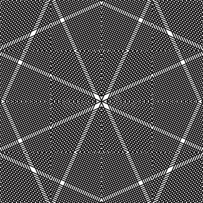 Monokrom strimmig illusive ändlös modell för vektor, konstcontinuou stock illustrationer